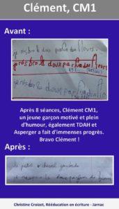 Clément Cm1-christine-croizet-jarnac-graphothérapeute