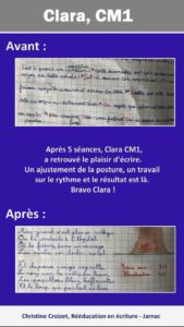 Clara CM1-christine-croizet-jarnac-graphothérapeute